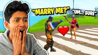 Finding an E-GIRL and telling Her to MARRY ME in Fortnite! (SHE SAID YES?!)