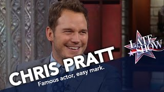 Chris Pratt Will Buy Anything You Try to Sell Him