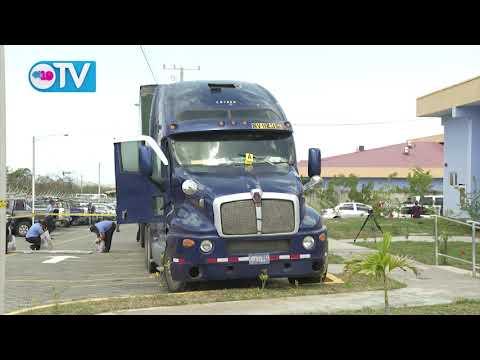Furgonero salvadoreño es detenido transportando 121 kilos de cocaína en Peñas Blancas