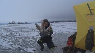 Рыбалка зимой на рузском водохранилище