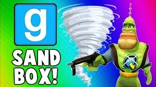 Gmod Sandbox Funny Moments TORNADO Edition - House Destruction & Skit Fails (Garry's Mod)