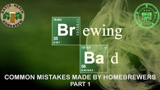Brewing Bad 1  Common Mistakes Made By HomeBrewers 4K HD