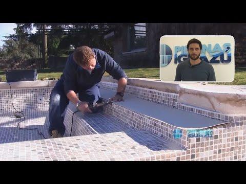 Impermeabilización de piscina con lámina armada Alkorplan.