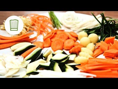 Julienne schneiden & tournieren - Gemüse schneiden und in Form bringen   Chefkoch.de