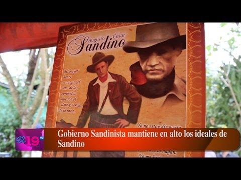 Gobierno Sandinista mantiene en alto los ideales de Sandino
