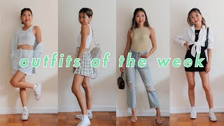 SUMMER OUTFITS OF THE WEEK 🍓 | Comfy & Casual Looks