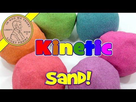 Rainbow Kinetic Sand!  I Mix & Make Colors - ASMR Satisfying Sand Playing Video
