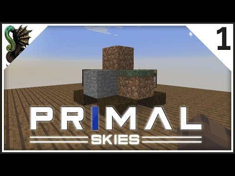 Primal Skies EP1 - Rocky beginnings - Modded Minecraft Let's Play