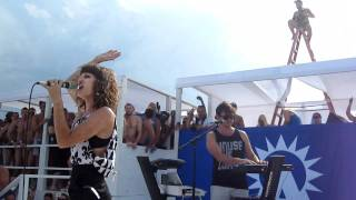 Dragonette performing at Ascension Beach Party on Fire Island