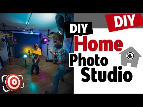 Home Photography Studio Setup - Tips for building a DIY Home Portrait Studio on a budget