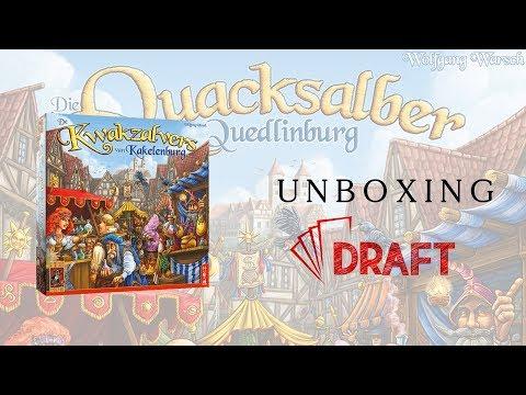 Kuruzslók Quedlinburgban unboxing // mi van a dobozban? - :: Draft :: Társasjáték vlog