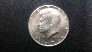 Coins :USA Half Dollar 1974 Coin aka Fifty-cent Piece or Kennedy half dollar