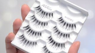 Ardell Wispies Lashes Try On & Review   CORRIE V