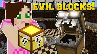 Minecraft: BLOCK OF EVIL!!! (YOU WILL NOT BE LUCKY!) Custom Command