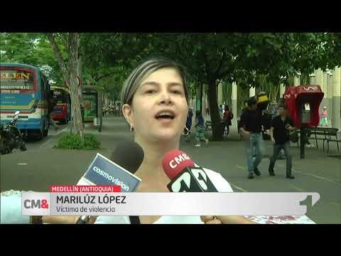 Mujeres protestan en Medellin contra feminicidios y violencia de genero