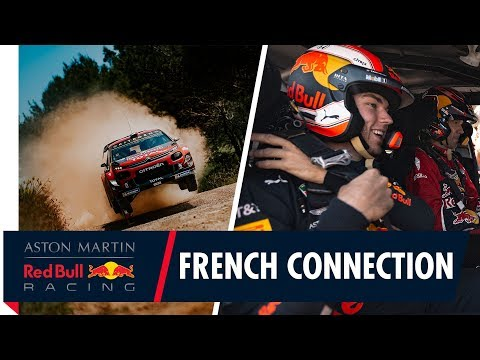 The French Connection | Pierre Gasly hitches a ride with rally champion Sébastien Ogier
