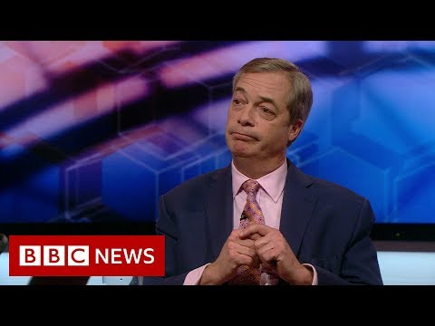 Nigel Farage reaction as Conservatives set for majority - BBC News