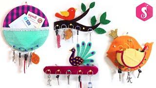 4 Useful Key Holder Making From Waste Cardboard | Sonalis Creations