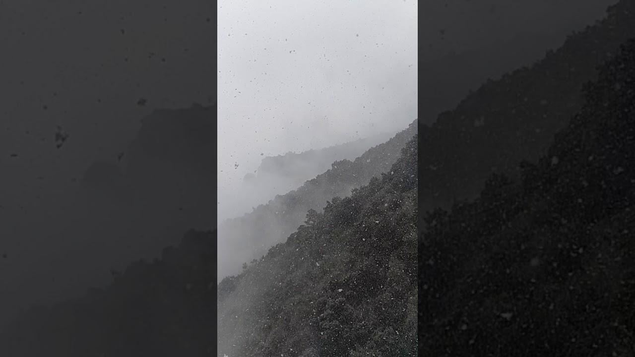 Schneefall in Barcelona