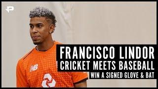 Cricket meets Baseball   WIN Francisco Lindor signed glove and bat!!