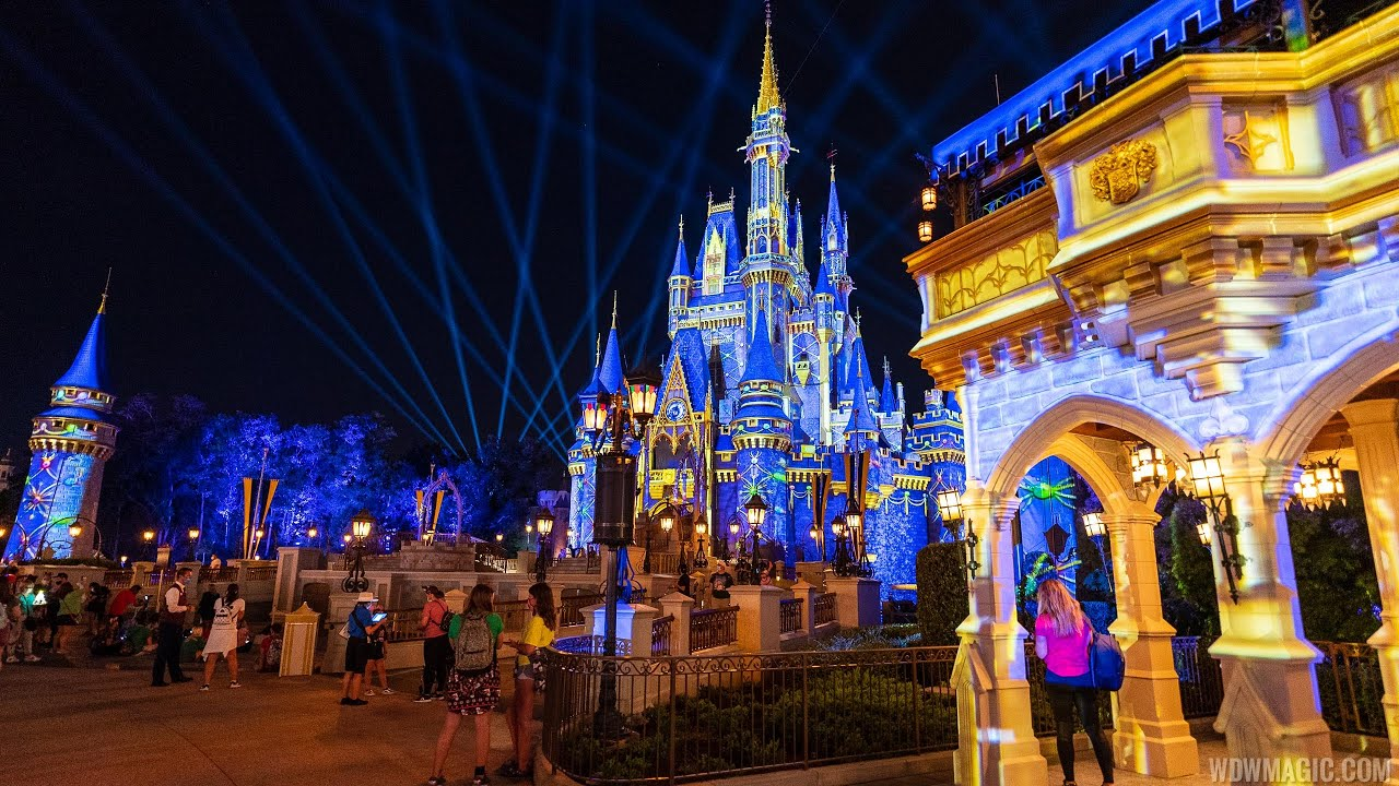Cinderella Castle Holiday projections 2020