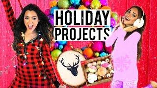 7 Holiday DIY Projects! DIY Room Decor,  DIY Holiday Treats + DIY Gifts! Niki And Gabi