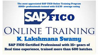 SAP FICO Online Training Demo 2016 by K.Lakshmana Swamy