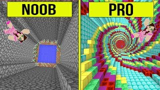 Minecraft: NOOB VS PRO!! - THE DROPPER! - Modded Challenge