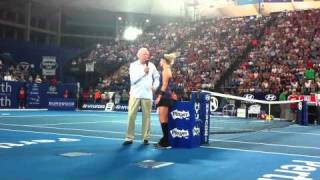 Bethanie Mattek-Sands With Fred Stolle After Her Win Over Laura Robson