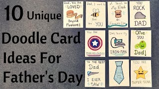 DIY Fathers Day Pun Doodle Cards || Birthday Cards For Dad