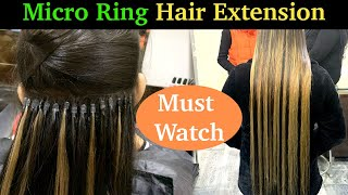 Permanent Hair Extension   Micro Ring Extension   Hairapist 😍