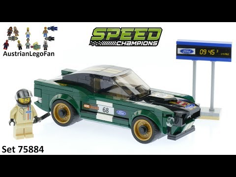 Vidéo LEGO Speed Champions 75884 : Ford Mustang Fastback 1968