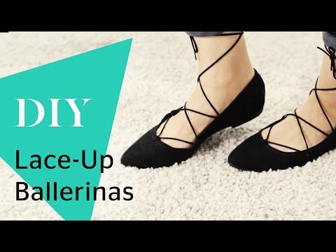 DIY Lace-Up Ballerinas » 2 einfache Varianten für Schnür-Flats » How to Wear | Stylight