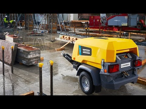 Watch how this Portable Air Compressor takes the vibration challenge! The New 8 Series, Atlas Copco - zdjęcie