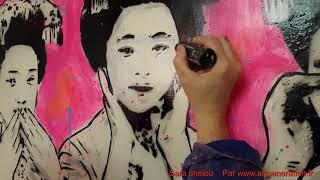 Sara Chelou street art artiste peintre