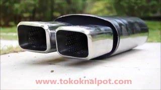 KNALPOT MOBIL HKS HYBER DUAL SQUARE (TK H-5050-HDS)