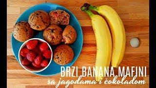 BRZI banana MAFINI sa jagodama i čokoladom gotovi za 40min