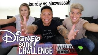 Disney Song Challenge - LaurDIY vs Alex Wassabi | AJ Rafael