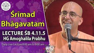 Srimad Bhagavatam (4,11,5) By HG Amoghalila Prabhu On 23rd March 2014.