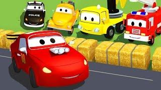 La Super Patrouille: camion de pompier et voiture de police, la Petite Voiture de Course à Car City