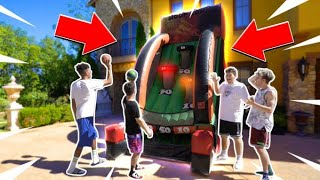 INSANE GIANT ARCADE BASKETBALL GAME! *Crazy Buzzer-Beaters*