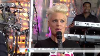 P!nk ,HD,Blow Me ,One Last Kiss, Live Interview,Today Show  2012,HD 1080p