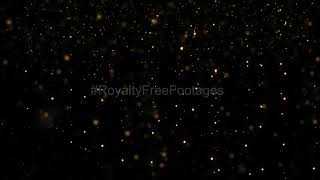 Golden dust particles, abstract particles background | bokeh light effect video, wedding background