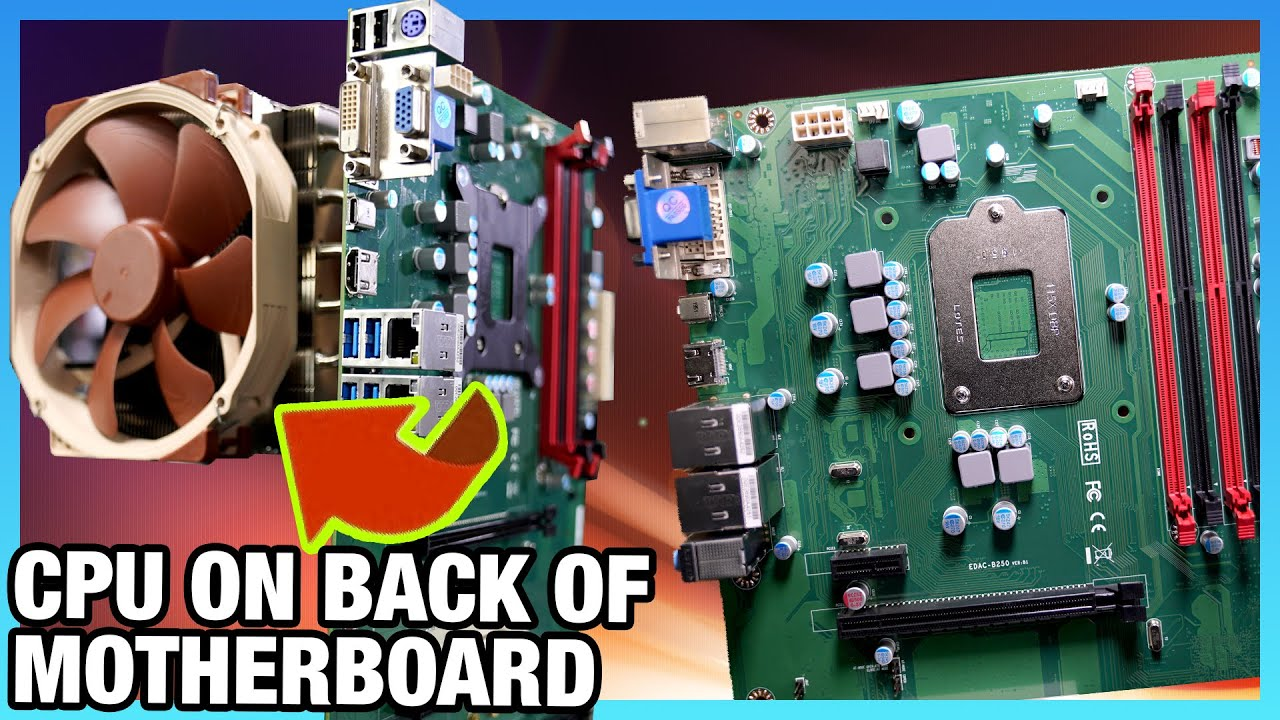 CPU on the Back of Motherboard & Huge Passive Heatsink - ENCTEC REV Motherboard Review