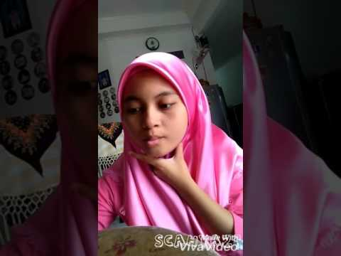 Video Tutorial hijab segi empat bahan satin