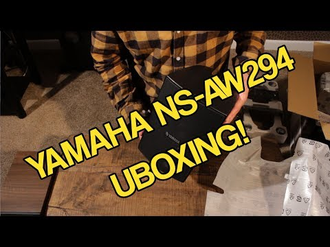 Yamaha NS-AW294 Outdoor speakers Unboxing
