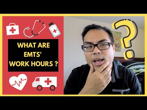 What are EMTs' schedule? work hours? daily calls?