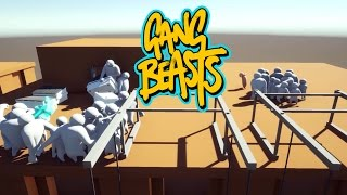 Gang Beasts - Roof Top Hooligans [Father And Son Gameplay]