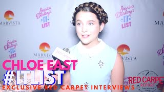 Chloe East interviewed at the premiere of Jessica Darling's It List #ITList