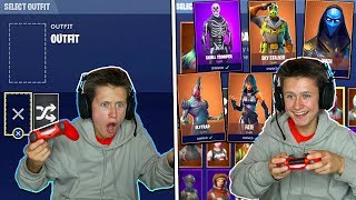 DELETING MY LITTLE BROTHERS FORTNITE SKINS & BUYING HIM 100 NEW SKINS... (58,000 VBUCKS)